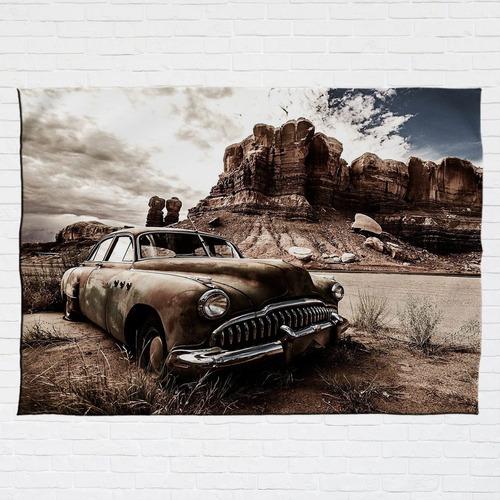 Stompy Bandeira Decorativa Vintage Car Dust Carro Antigo