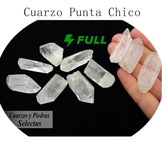 Kit Chico 4 Pz Cuarzo Punta Natural En Semi-bruto 3 A 4 Cm