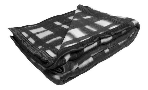 Cobertor Guaratinguetá Boa Noite Casal preto Xadrez