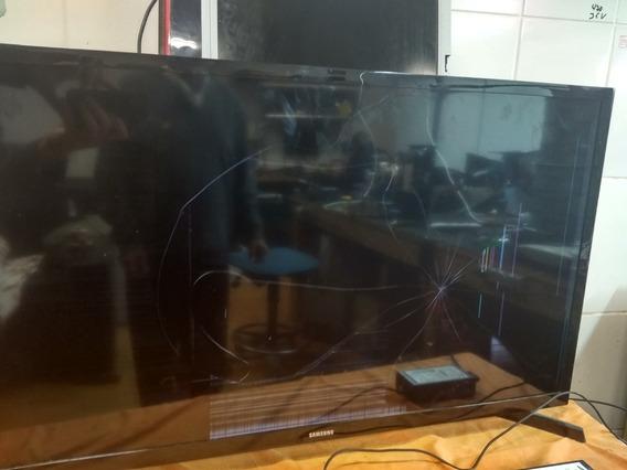 Tv Samsung 32 Com Tela Quebrada