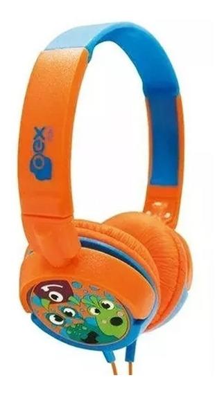 Fone De Ouvido Infantil Oex Hp300 Boo Laranja