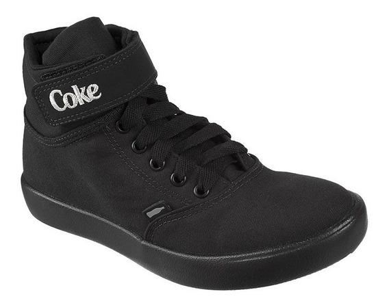 Tênis Feminino Coca Cola Mika Ease Canvas All Black - Cc1434