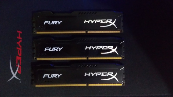 Memoria Kingston Hyperx Fury 3x4gb Ddr3 1600mhz