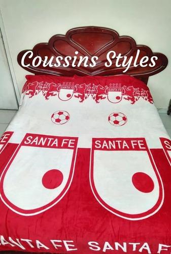 Cobija Manta Equipos Santa Fe Sencillo Doble