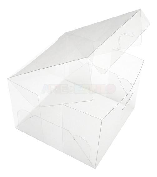 50 Caixas De Acetato Transparente 10x10x7 Cm Caixinhas Pet