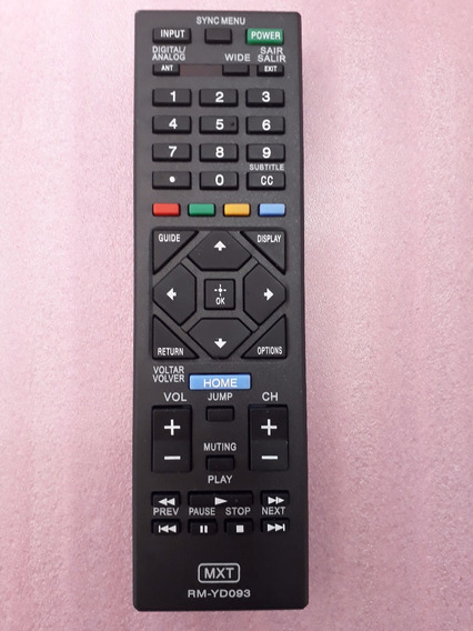Controle Remoto Tv Led Lcd Sony Rm-yd093 = Rm-yd104 Bravia