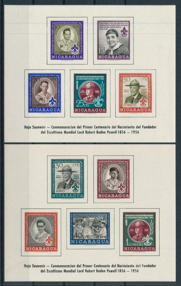 1957 Movimiento Boy Scouts- Powell - Nicaragua ( Bloque) Mnh