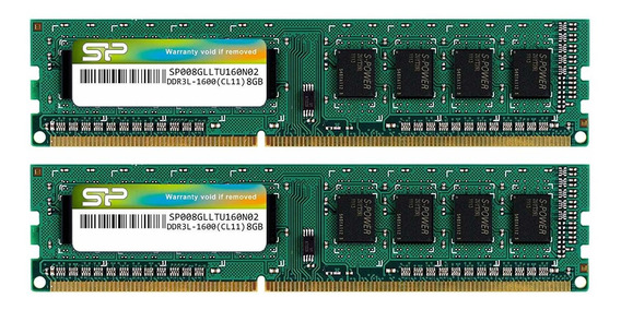 Memoria Ram 16gb 2x8gb Ddr3 1600mhz Pc3-12800 Silicon Power