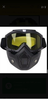 3 Careta Mascara Casco 3/4 Gotcha Airsoft Motos Bici