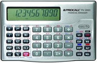 Calculadora Financeira Fn1200c Procalc Similar Hp12c