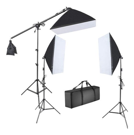 Kit Iluminação 3 Softbox 50x70 Estudio Fotográfico E27