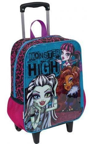 Mochila De Rodinhas Infantil Escolar Menina Monster High