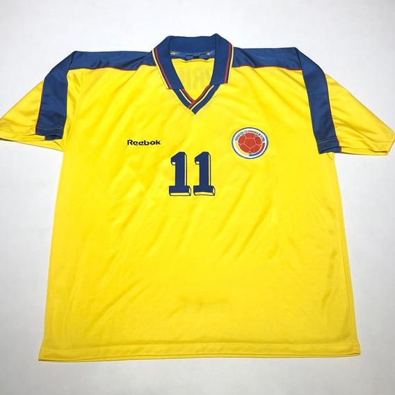Camiseta Reebock Colombia Original De Epoca Valderrama