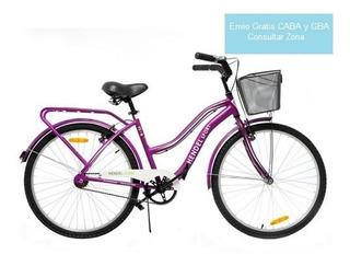 Bicicleta Dama Hendel Sport Lady Full Aluminio R-26 Violeta