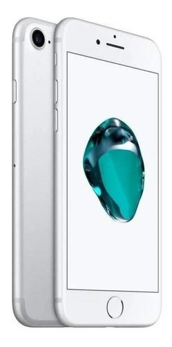 Imagen 1 de 5 de Celular iPhone 7 128gb Silver + Funda + Audifonos