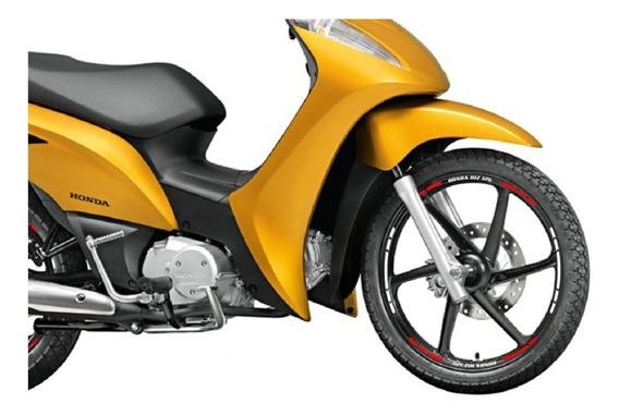 Adesivo Friso Faixa Rodão Moto Biz 100 Biz 125 Pop 100