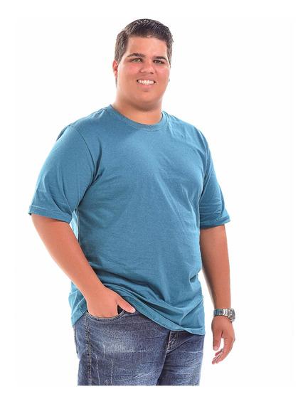 Kit 2 Camisetas Tamanho Grande Lisa Plus Size G1 Ao G3