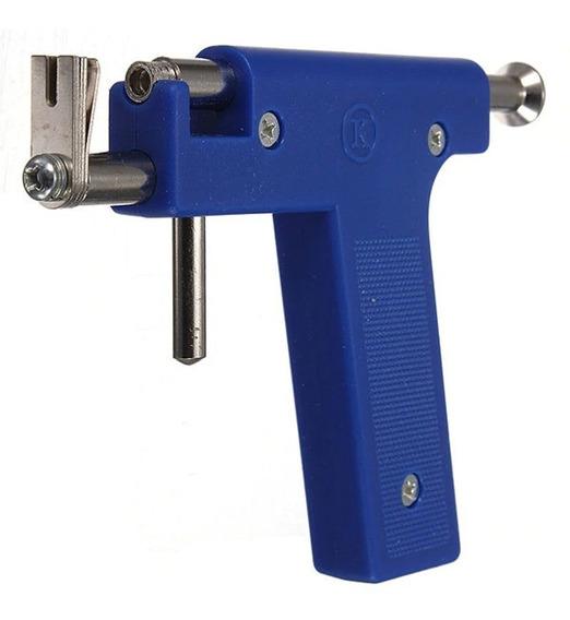 Arma Pistola Para Furar Orelha Nariz Piercing Brinco Sem Dor