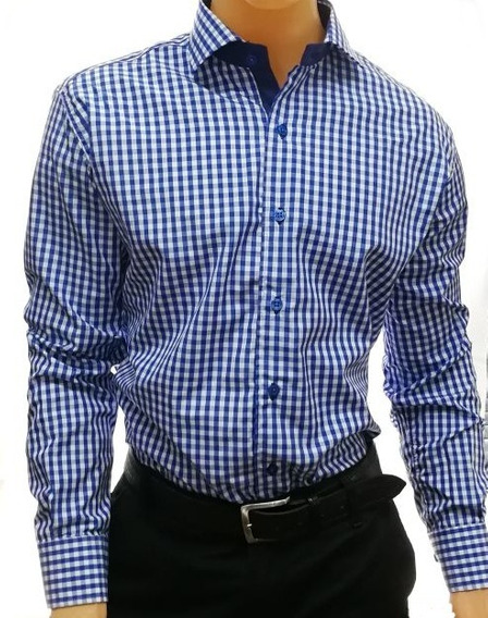 Camisa Di Varezzi Slim Entallada ,ajustada Con Combinaciones