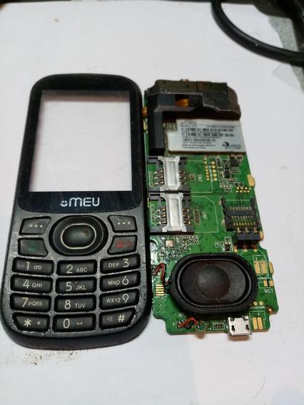 Placa Celular Meu Mod 412 Com Display E Teclado Falta Lcd...