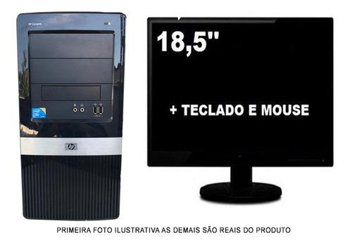 Imagem 1 de 5 de Computador Hp Compaq Core 2 Duo 4gb 120gb Ssd Com Monitor