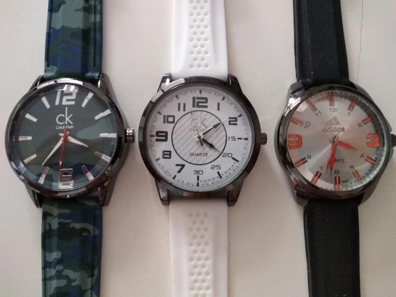 Kit C/ 20 Relógios Masculinos E Femininos Baratos Atacado