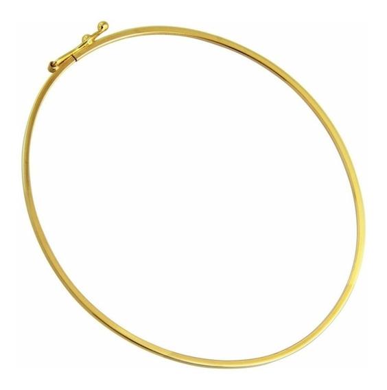 Pulseira Bracelete Redondo Em Ouro 18k-750