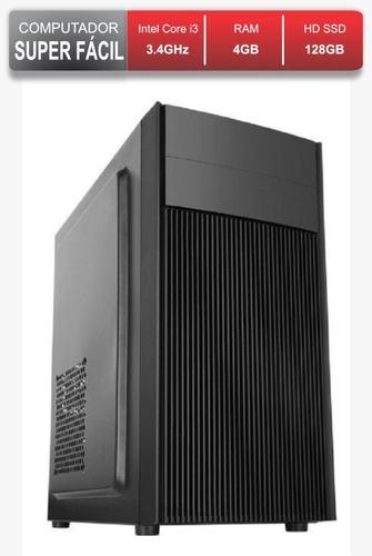 Computador Facil Rápido Intel I3 4gb Ram Ddr3 Ssd 128gb Nf
