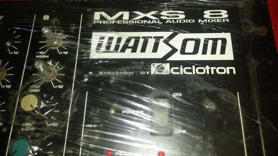 Mesa De Som Wattsom - Mxs8 - Produto Usado
