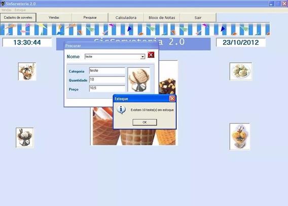 Sistema Completo Sorveteria + Código Fonte Vb + Envio Grátis
