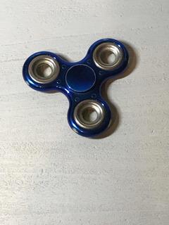 Fidget Spinner Dorado Y Azul