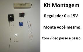 Kit Montagem Fonte Regulável De 0 A 15v Por 25a