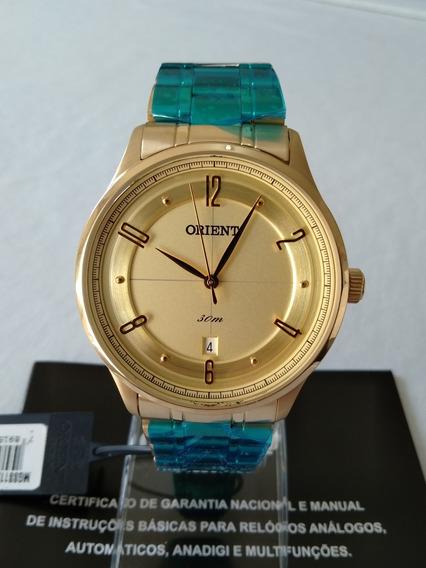 Relogio Dourado Masculino Orient Original Ref-mgss1126c2kx.