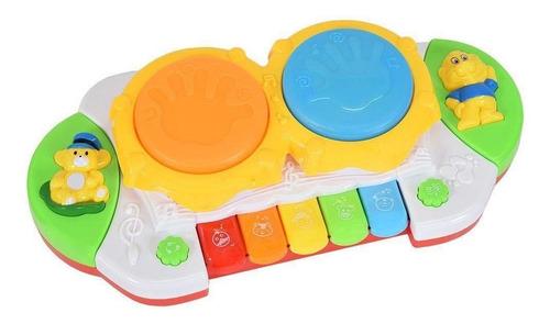 Brinquedo P/ Bebê Tecladinho Musical C/ Luz - Minha Bandinha