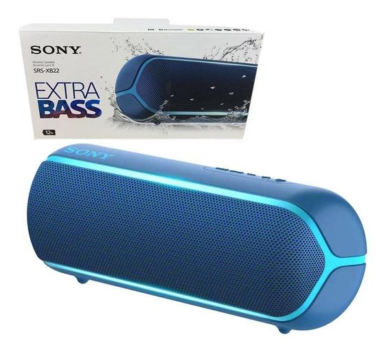 Caixa De Som Bluetooth Extra Bass Srs-xb22 Sony Azul
