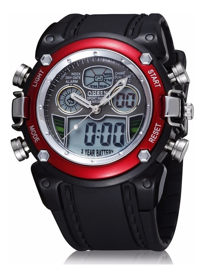 Relógio Masculino Pulso Ohsen Digital Analógico Promoção