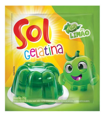 Gelatina Sol Limao 25g
