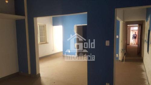 Imagem 1 de 12 de Casa Com 3 Dormitórios Para Alugar, 120 M² Por R$ 1.800/mês - Centro - Ribeirão Preto/sp - Ca2009