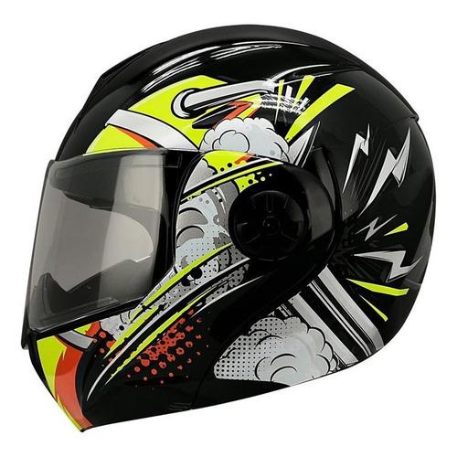 Imagen 1 de 2 de Casco Moto Abatible Ghira Gh1000 Nitro Gafas Certificado Dot