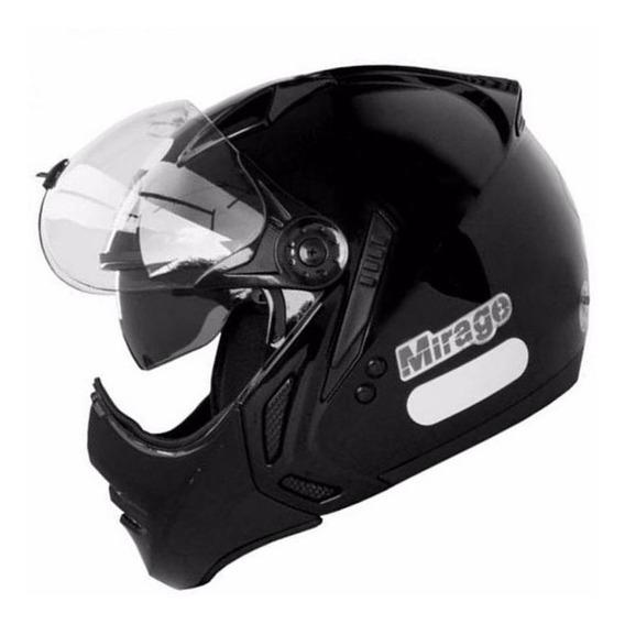 Capacete Moto Peels Mirage New Classic Com Óculos Fumê Interno