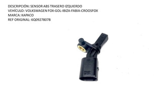 Sensor Abs Trasero Izquierdo Volkswagen Fox-gol-ibiza-fabia-