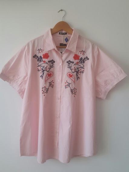 Camisa Fibrana Con Bordado