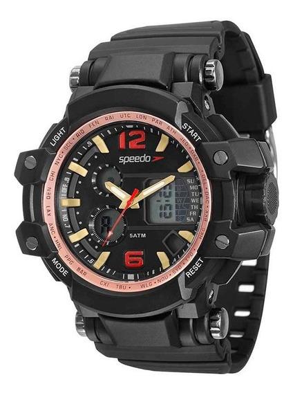 Relógio Speedo Masculino Anadig Preto 81109g0evnp3