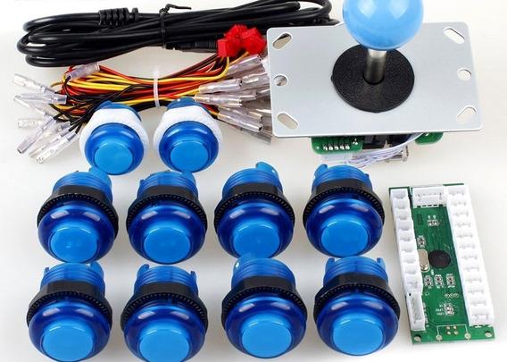 Peças Para Joystick + Botões Iluminados P/ Raspberry Pi 2 3