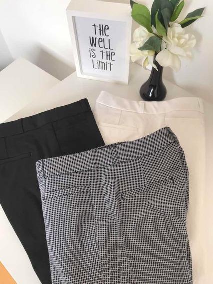 Pantalon Blanco De Vestir - Banana Republic Xs (petit)