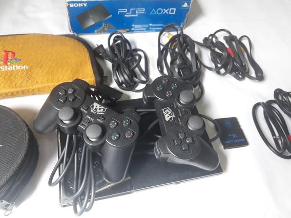 Sony Playstation 2 (+2controles+memory Card Raro+jogos...)