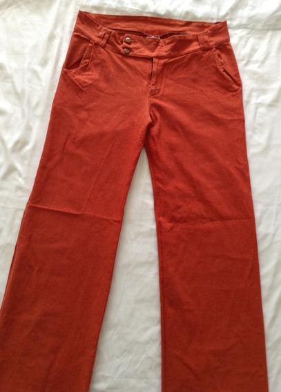 Pantalón De Vestir Color Terracota Talla Xl (usado)