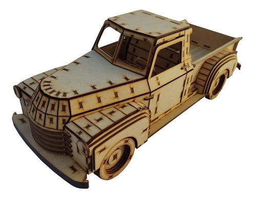 Rompecabezas 3d Camioneta Chevrolet Pickup 1948 Maqueta Flex