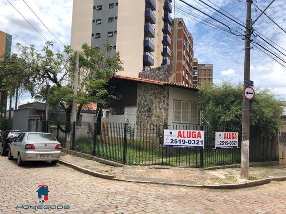 Casa Comercial Para Locação No Miolo Do Cambuí - Ca00312 - 33384493