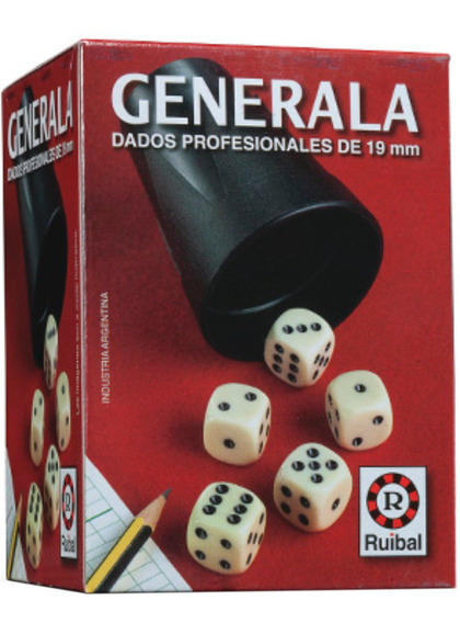 Generala Con Dados Profesionales 19mm Ruibal